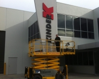 Kinder. 80mm thick fabricated painted letters