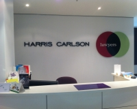 Harris Carlson 3D lettering 25mm thick 2Pac painted
