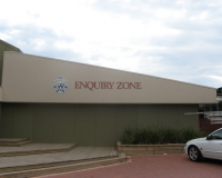 Mordialloc College 3D lettering on building