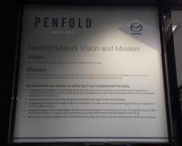 Penfold Mazda digital print on Etch Vinyl