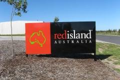 Red Island Garden sign