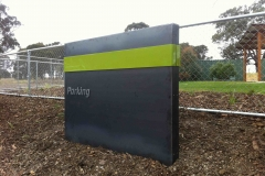 Core 10 garden sign with 3D letters