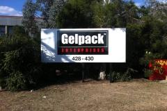 Gelpack garden sign with anti graffiti over laminate