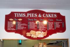 Menu Board Upwey Pis & Cakes