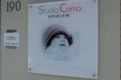 Studio Como entrance perspex sign