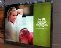 Coach Chadstone Shopping Centre. Silk illuminated print
