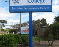 Mordialloc College Pylon sign