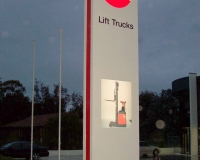 BT Lift Services Dandenong. 7mt Pylon sign
