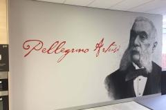 Pellegrino Artusi wall print on plaster