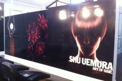 Shu Uemura digital print on plaster wall