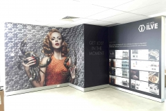 Ilve Showroom - Digital print on plaster wall